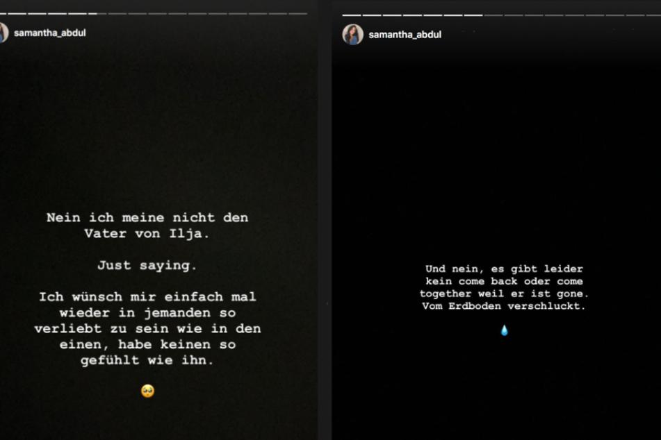 Bei Instagram berichtete Sam von ihrem Kummer.