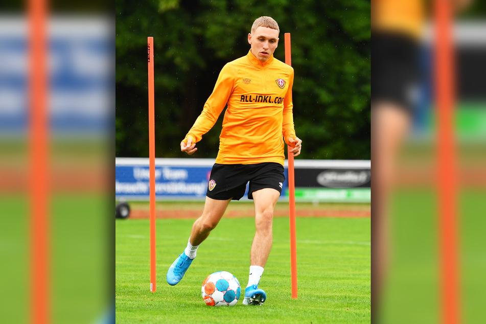 2. Bundesliga statt Regionalliga! Luca Herrmann, hier beim gestrigen ersten Training im Camp am Ball, ist zuversichtlich, dass er die höheren Anforderungen meistert.