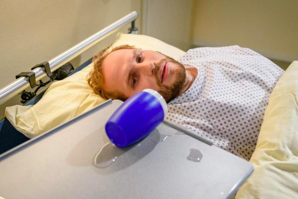 Florian (Arne Löber, 28) kämpft mit seiner harten Diagnose.
