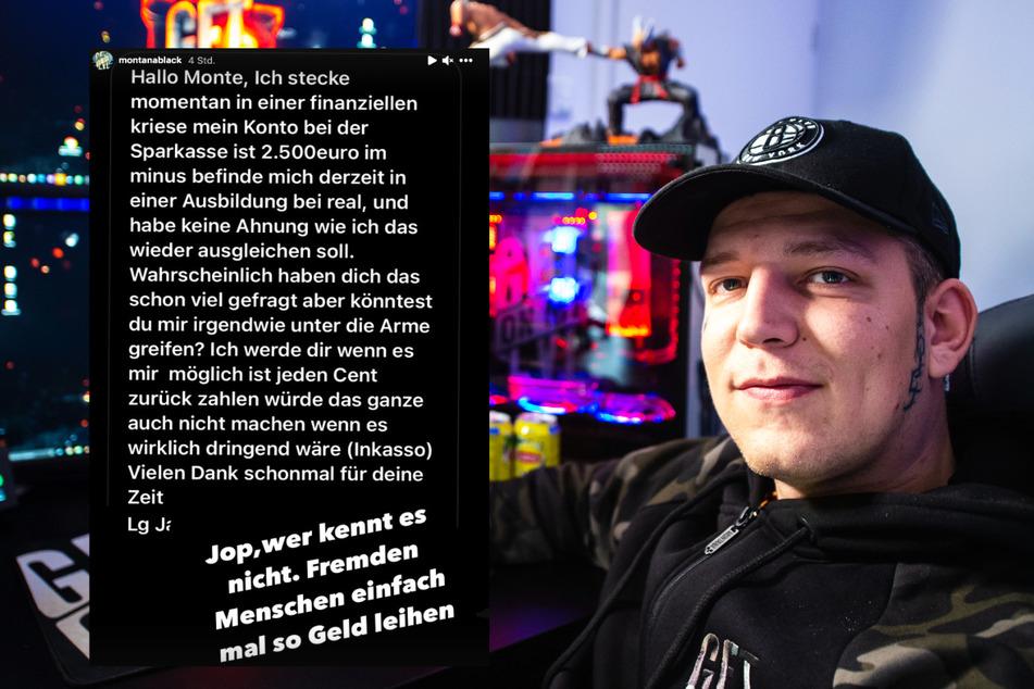 """""""Stecke in einer Krise"""": Fan bittet YouTube-Star MontanaBlack um Finanzspritze!"""