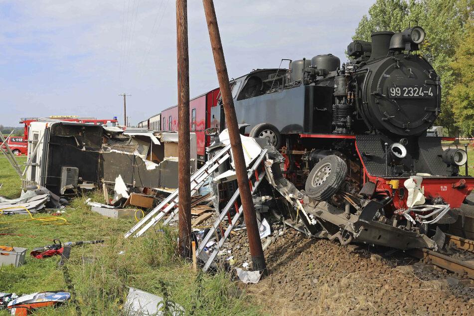 Tödlicher Unfall: Bäderbahn Molli kollidiert mit Wohnmobil