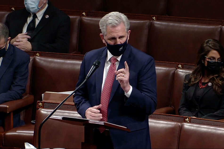 Representative Kevin McCarthy, the top Republican in the House, voted against impeachment, but held Trump responsible for the Capitol violence.