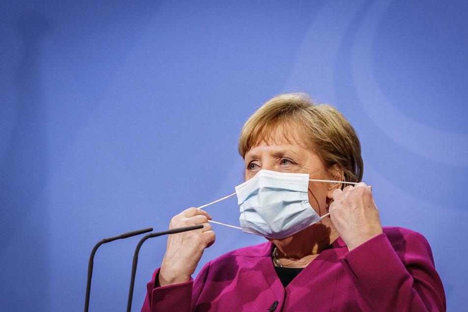 Bundeskanzlerin Angela Merkel (66, CDU) beim Pressestatement nach dem Gipfeltreffen der EU-Staats- und Regierungschefs.