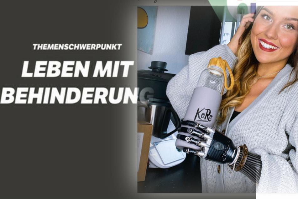 """Die """"einarmige Prinzessin"""" Gina Rühl (21) ist zu Gast im """"Nachtcafé""""."""