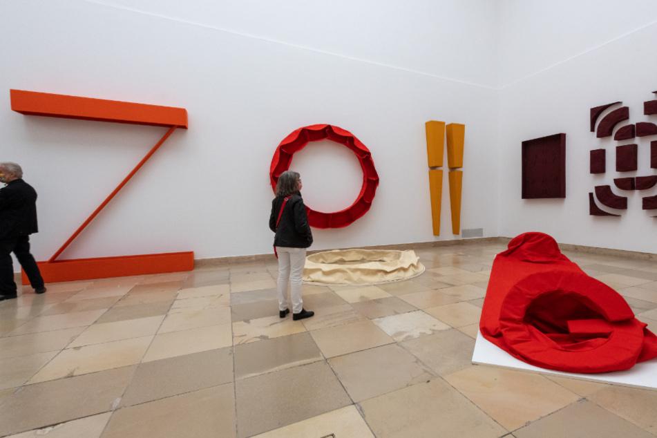 Wenig Besucherandrang herrscht im Haus der Kunst in der bayerischen Landeshauptstadt.