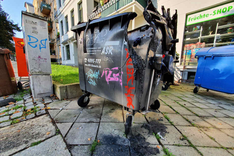 Auf dem Chemnitzer Kaßberg brannte in der vergangenen Nacht ein Container.