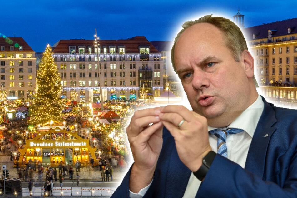 """""""Den Menschen was zum Hoffen geben"""": Deshalb hält OB Hilbert am Striezelmarkt fest"""