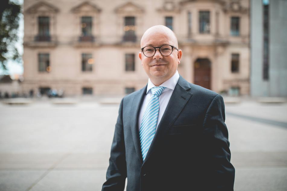 Plädiert für die OB-Wahl in Chemnitz am 20.September: Frank Müller-Rosentritt (37, FDP).