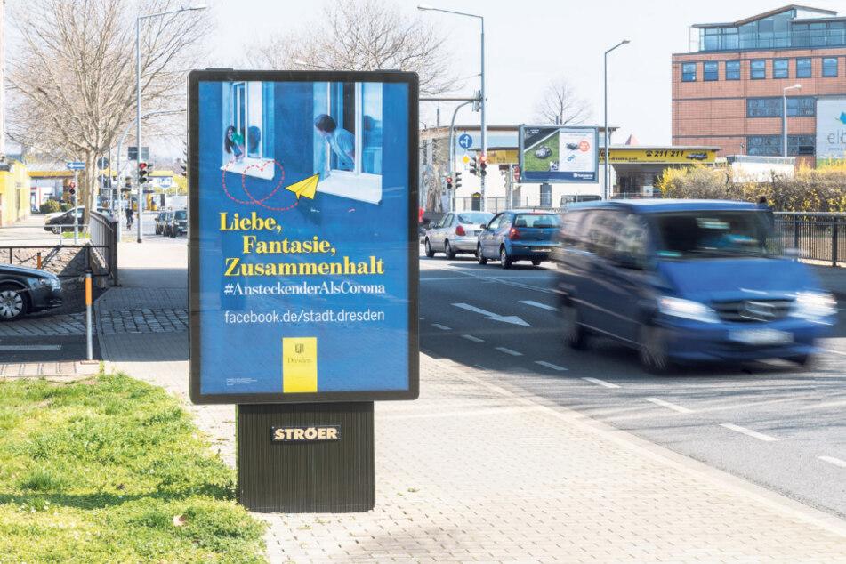 Auf 270 solcher Werbeflächen im Stadtgebiet wirbt die Stadt für ihre Aktion.