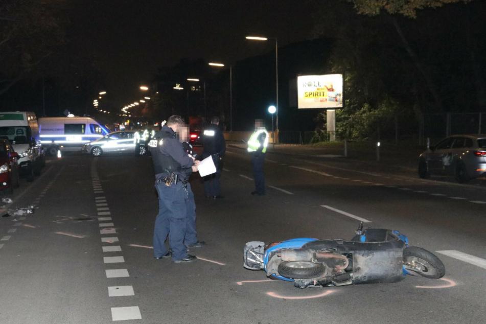 Rollerfahrer bei Unfall schwer verletzt