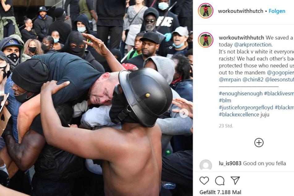Patrick Hutchinson postete dieses Foto am Samstag auf Instagram.