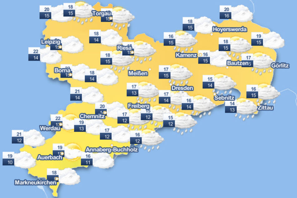 Die Wetterkarte lässt nichts Gutes erahnen.