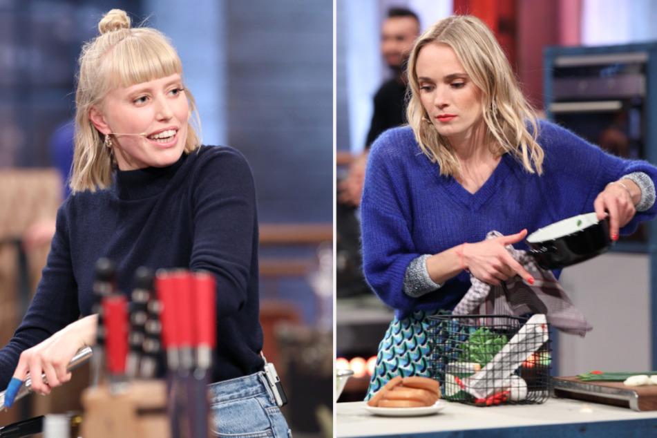 Sängerin Lea (r, 28) und Moderatorin Annie Hoffmann (36) stellen ihre Kochkünste unter Beweis.