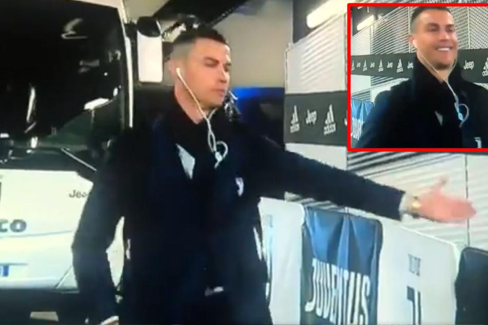 Coronavirus: So nimmt Cristiano Ronaldo die Geisterkulisse aufs Korn!