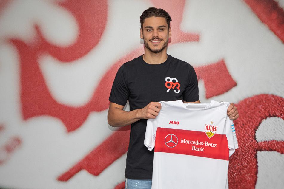 Konstantinos Mavropanos (22) wechselt für die kommende Saison auf Leihbasis vom FC Arsenal zum VfB Stuttgart.