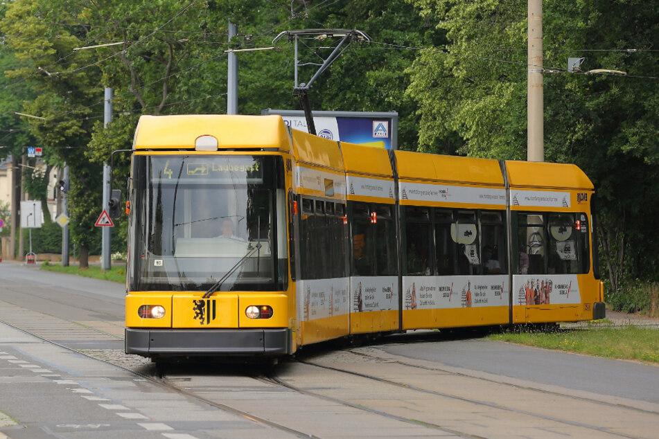 Ab Montag freie Fahrt: Mit der Linie 4 geht's dann wieder ungehindert durch Radebeul und Weinböhla.