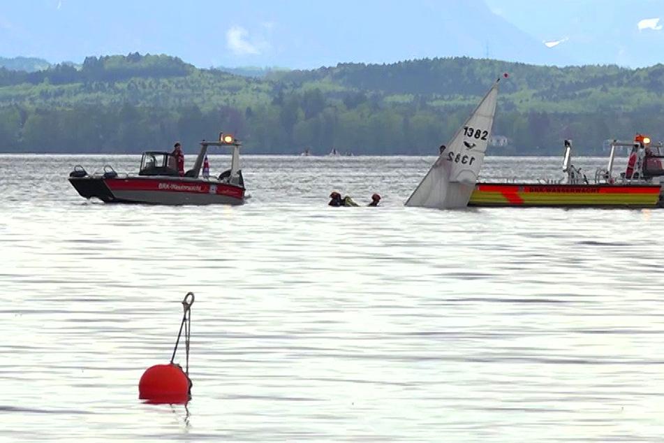 Boot mit 6-köpfiger Familie kentert: Hilferufe auf dem Starnberger See