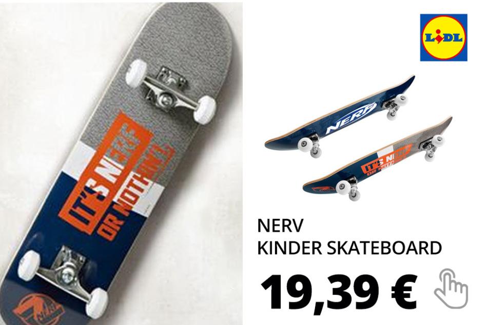 NERF Kinder Skateboard, mit ABEC-5-Kugellager, aus Ahornholz