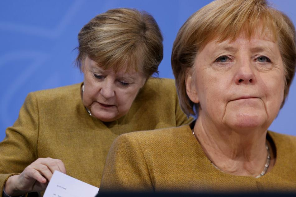 Angela Merkel hat Aussetzer bei Pressekonferenz und sorgt für Lach-Moment