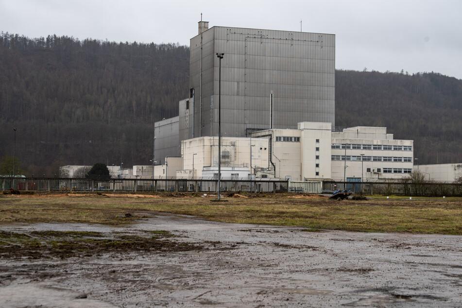 Außenaufnahme vom ehemaligen Atomkraftwerk Würgassen im östlichen Nordrhein-Westfalen. Hier soll ein neues Zwischenlager für Atommüll entstehen.