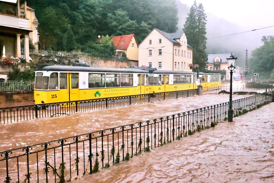 Die historische Kirnitzschtalbahn fährt vorübergehend nicht.