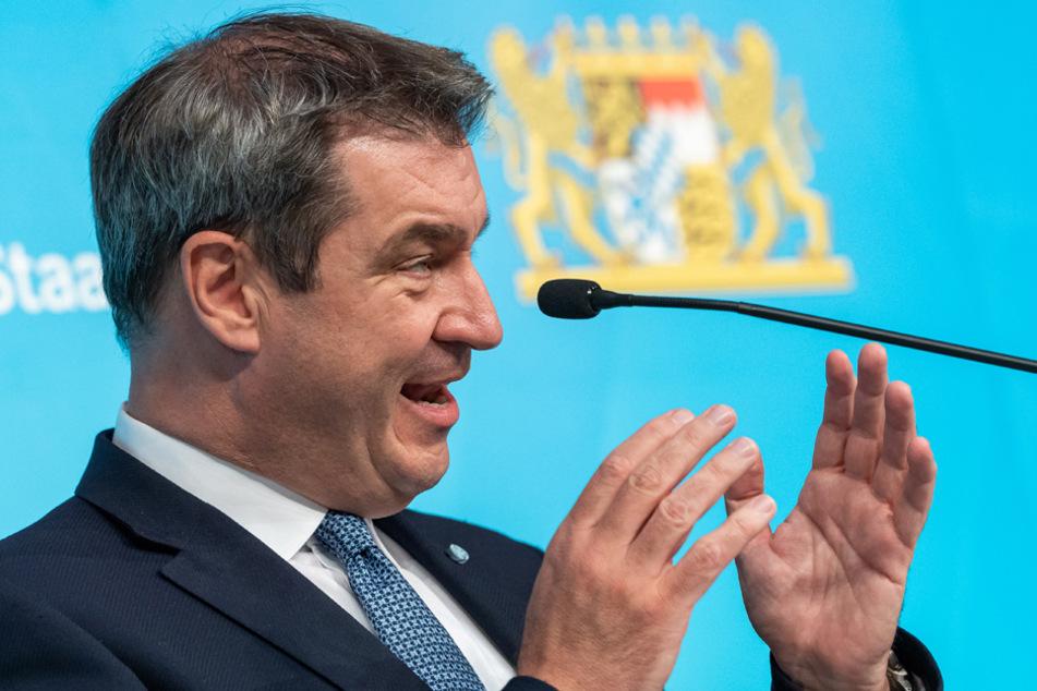 Bayerns Ministerpräsident Markus Söder warnte vor überstürzten Lockerungen. (Archiv)