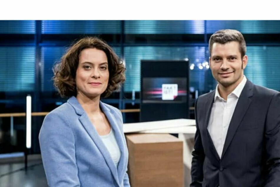 """Das """"Fakt ist!""""-Moderatoren-Team aus Magdeburg: Anja Heyde (44) und Stefan Bernschein."""