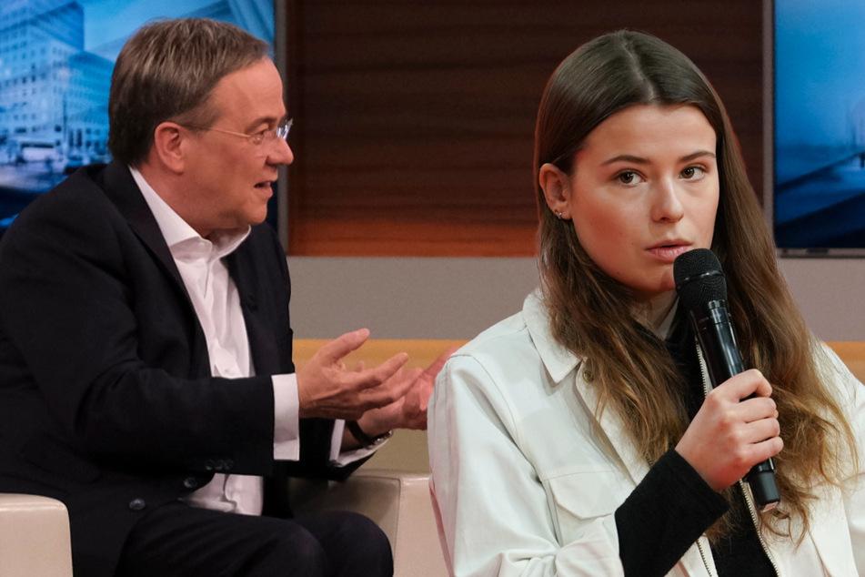 """Luisa Neubauer gibt Armin Laschet bei """"Anne Will"""" klare Kante: Der reagiert patzig"""