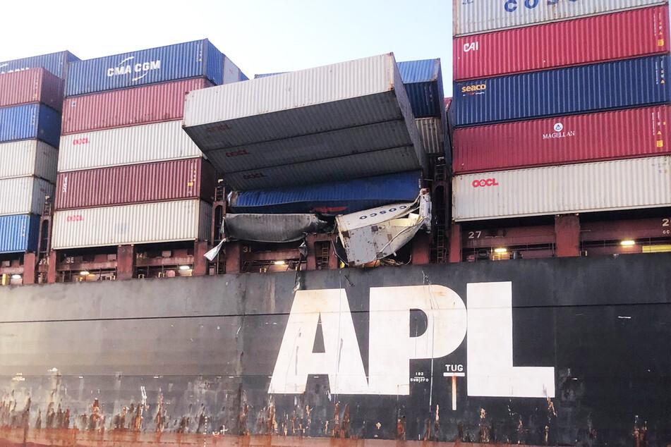 40 Container versanken im Südpazifik, 74 weitere an Bord wurden beschädigt.