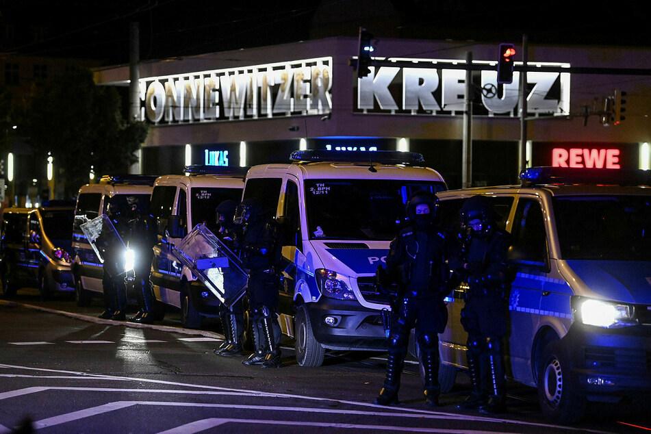 Mehrere Hundertschaften der Bereitschaftspolizei waren im Einsatz.