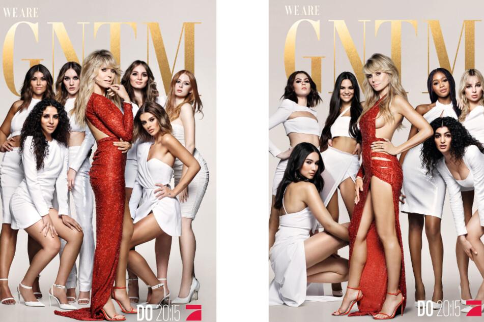 Heidi Klum (47) zeigt sich für die GNTM-Werbe-Kampagne in einem superknappen Kleid umringt von ihren Mädchen.