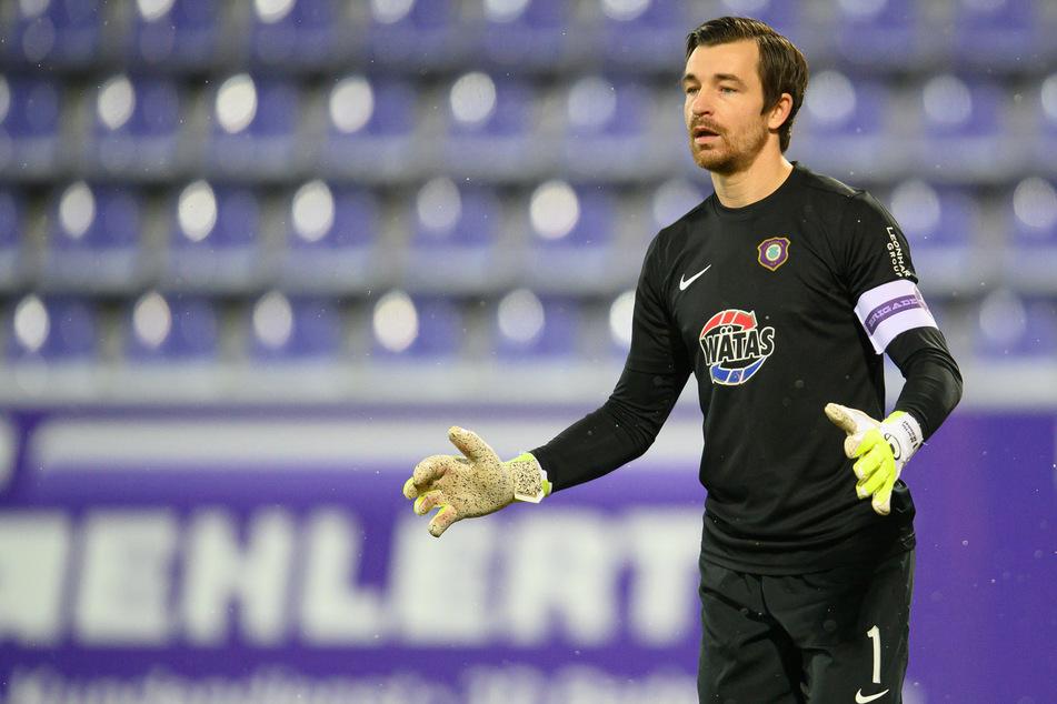 """FCE-Keeper Martin Männel (32) lobt trotz Niederlage seine Vorderleute und sagt: """"Wir haben ein gutes Auswärtsspiel gezeigt""""."""