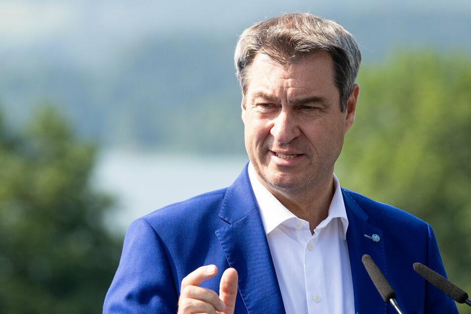 """Markus Söder (54, CSU), Ministerpräsident von Bayern, will eine """"Firewall"""" statt eines Lockdowns."""