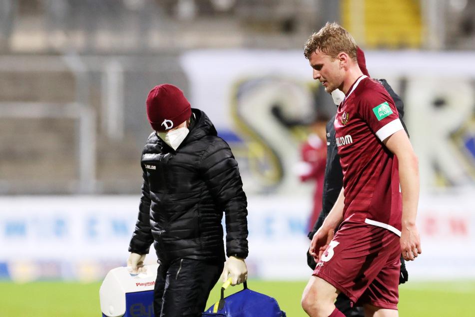 Nach seiner Behandlung versuchte Christoph Daferner (23) zwar weiterzuspielen, musste wenig später ab dann doch verletzt ausscheiden.