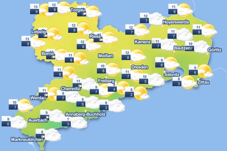 In dieser Woche wird das Wetter in Sachsen wechselhaft.