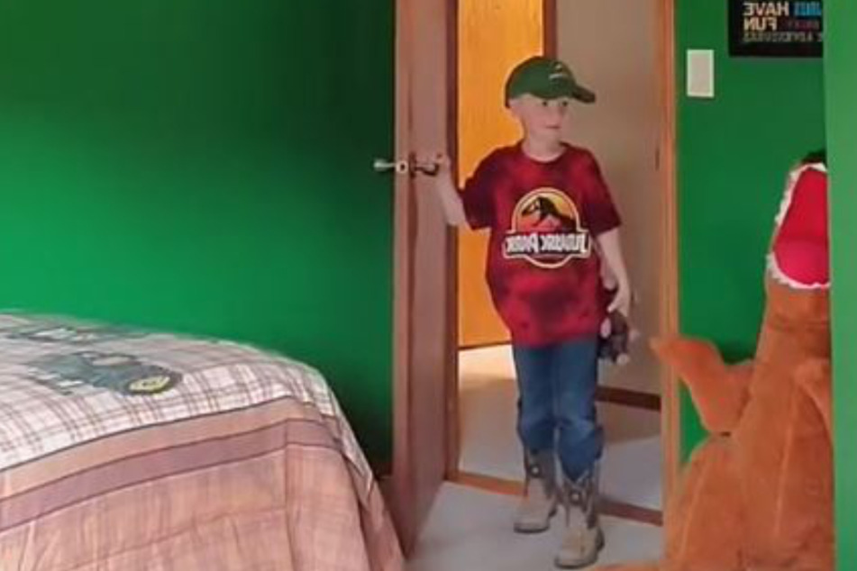 Eric Lynner's son wasn't thrilled when he saw his new room.