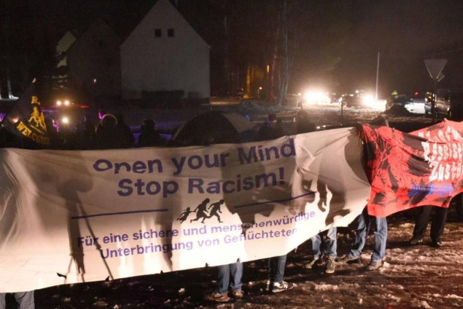 Solidaritätsdemo für Flüchtlinge in Clausnitz