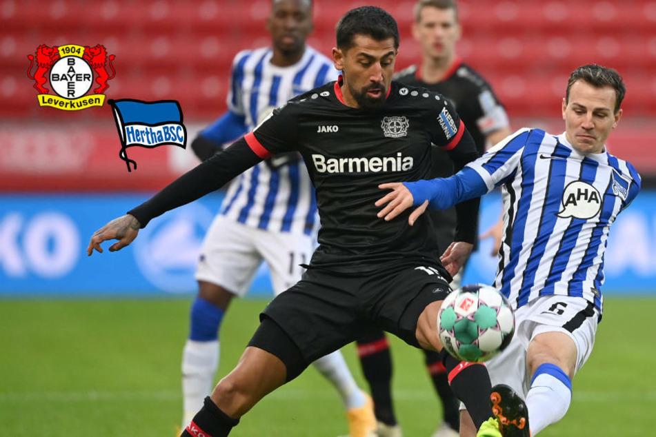 Hertha BSC ermauert Unentschieden gegen kraftlose Leverkusener
