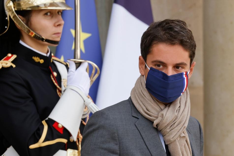 Der französische Regierungssprecher Gabriel Attal (31).