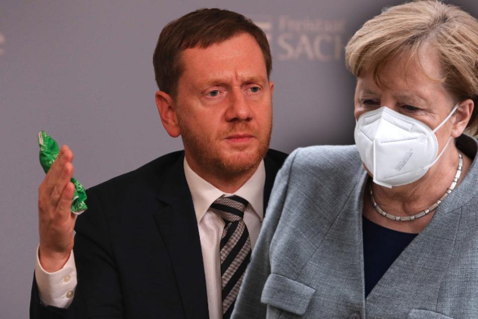 Merkel und Kretschmer bedroht: Wohnungsdurchsuchung bei Mann aus Sachsen
