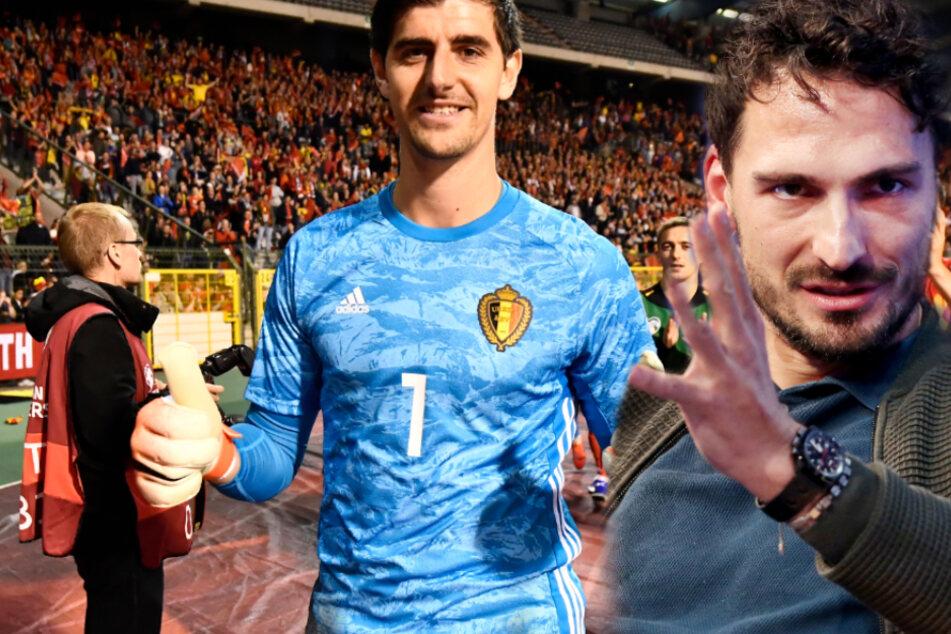 Fußball-Stars Mats Hummels und Thibaut Courtois duellieren sich an der Konsole