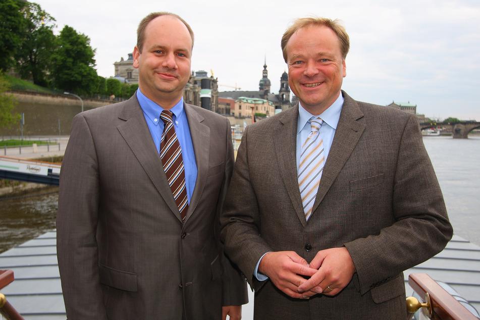 2008 unterstützte der damalige FDP-Generalsekretär Dirk Niebel (heute 58) seinen Parteifreund Dirk Hilbert (49) im OB-Wahlkampf. Niebel wurde später Entwicklungsminister.