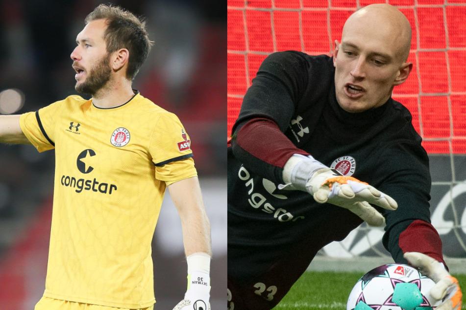 Stammtorwart Robin Himmelmann (31, l.) muss beim FC St. Pauli um seinen Platz kämpfen, aktuell hat Ersatzkeeper Sven Brodersen (23, r.) die besseren Karten.