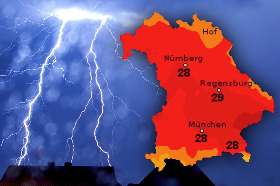 Gewitter lassen es krachen! So wird das Wetter am Wochenende im Freistaat Bayern