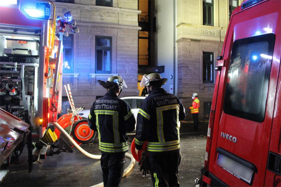 Einsatzkräfte am Abend in der Augustenstraße.