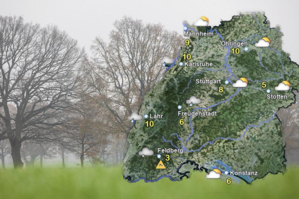 Nass-trüber Start in die Weihnachtswoche in Baden-Württemberg