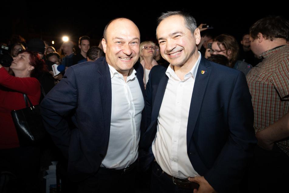 Octavian Ursu (CDU, re.) und Rafal Gronicz.