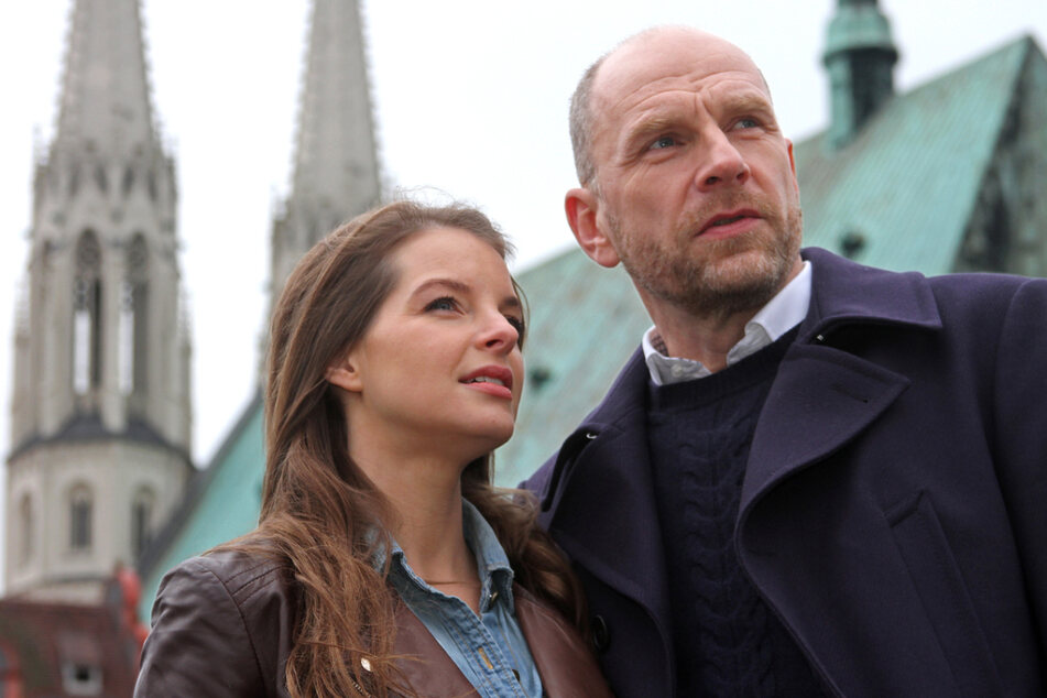 Ermitteln wieder als TV-Kommissare an der Neiße: Yvonne Catterfeld (40) und der gebürtige Sachse Götz Schubert (57).