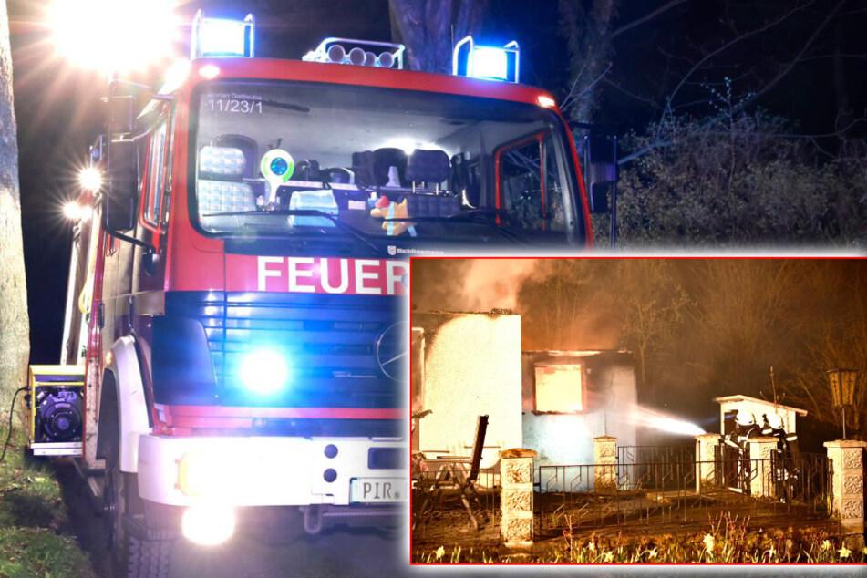 Nächtlicher Feuerwehreinsatz: Bungalow brennt vollständig nieder!