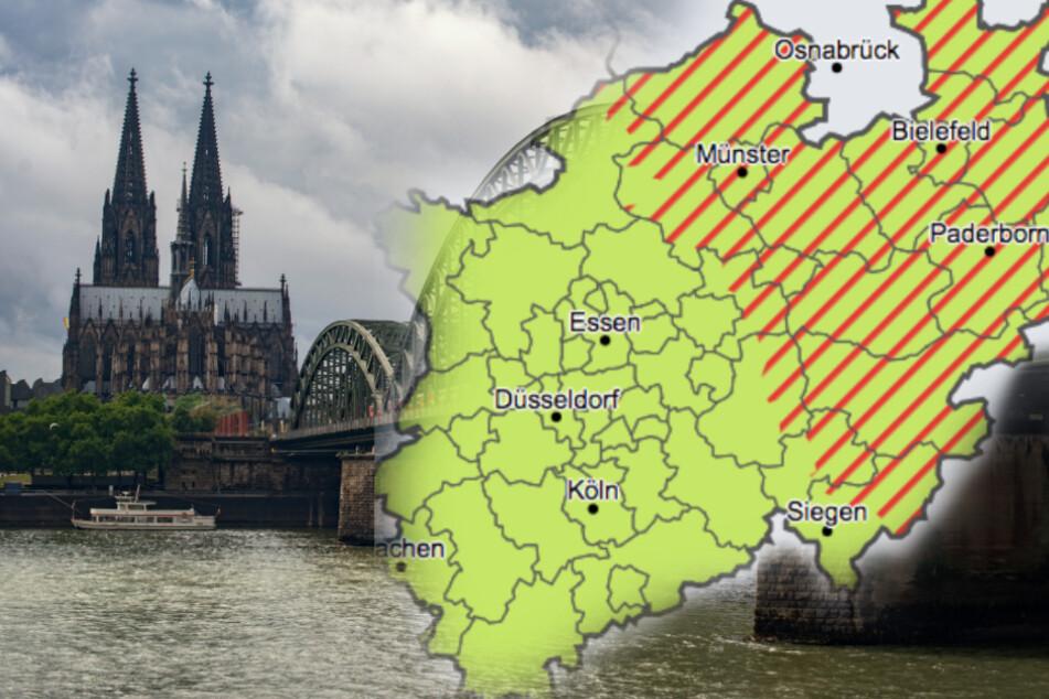 Üble Gewitter und Regen im Anmarsch auf NRW!
